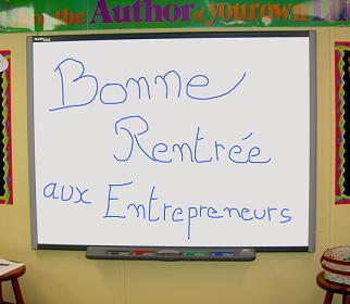 bonne rentrée aux entrepreneurs