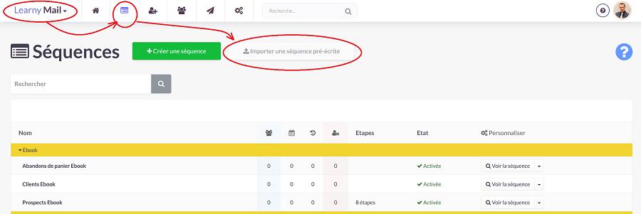 Créer une séquence d'emailing avec Learnymail