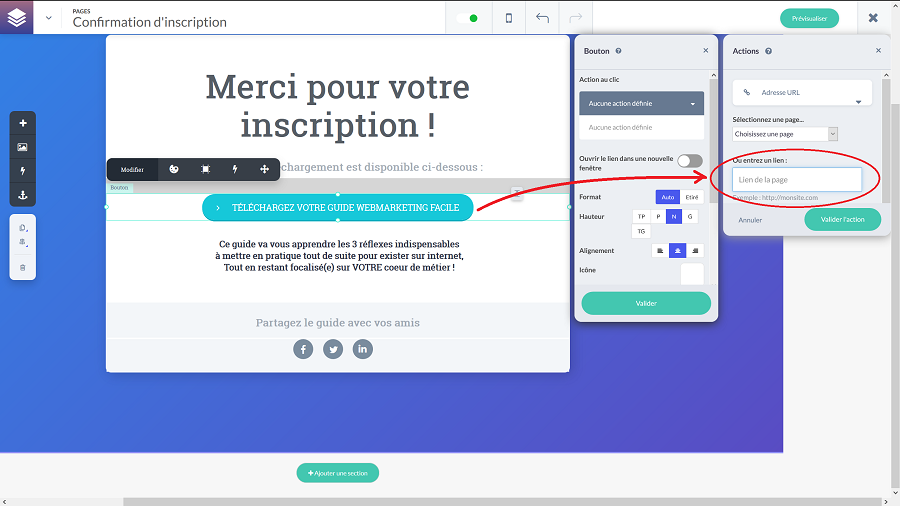 Livraison ebook avec learnybox