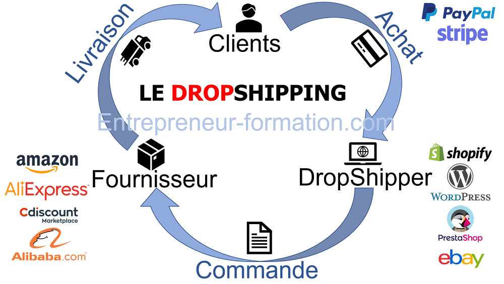 shemas dropshipping fourniseur boutique CMS