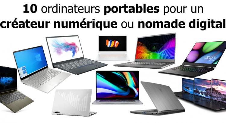 10 ordinateurs portables pour createur et nomade digital