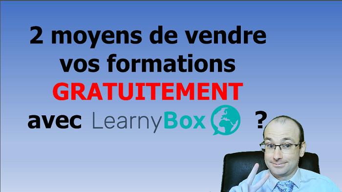 vendre vos formations gratuitement avec Learnybox